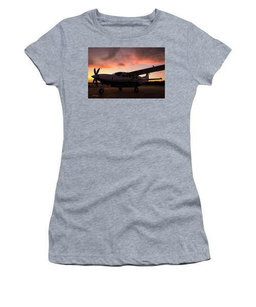 Caravan On The Ramp In The Sunset Women's T-Shirt