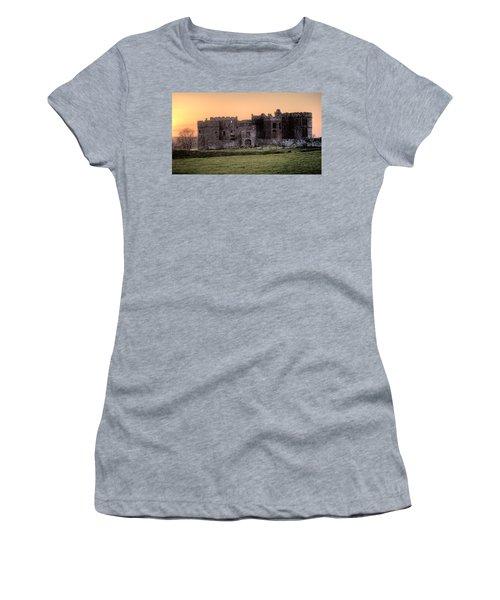 Carew Castle Coral Sunset Women's T-Shirt (Athletic Fit)