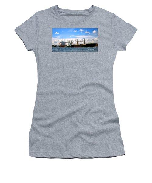 Cargo Ship And Tugboats  Women's T-Shirt