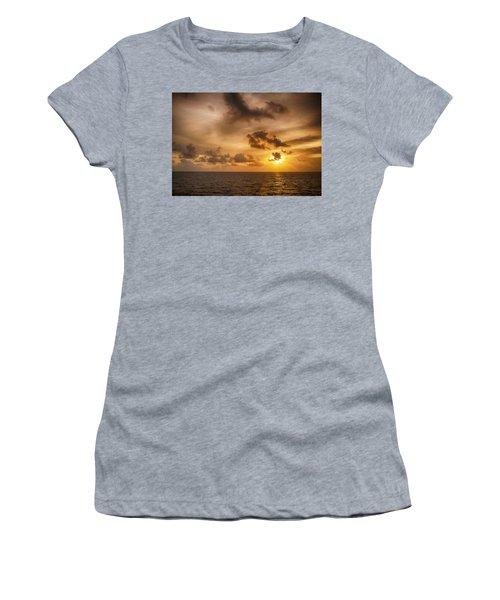 Caribbean Sunrise Women's T-Shirt (Athletic Fit)