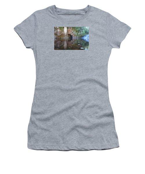 Women's T-Shirt (Junior Cut) featuring the photograph Carlson Creek Falls by Sandra Updyke
