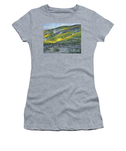 Carrizo Spring Mustard Women's T-Shirt (Athletic Fit)