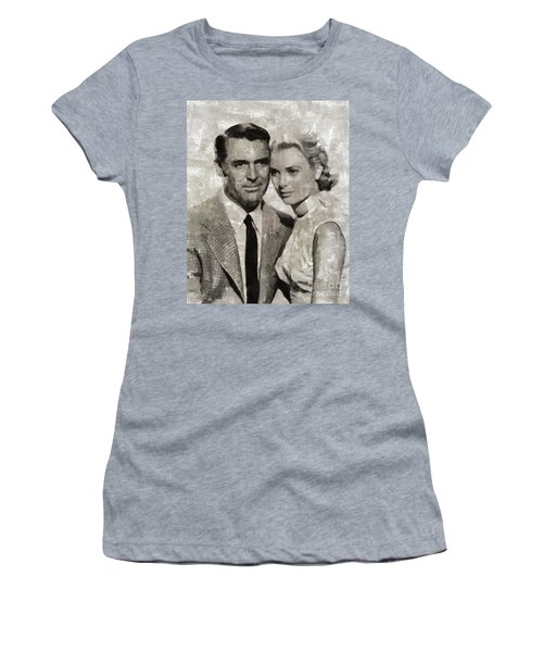 Cary Grant And Grace Kelly, Hollywood Legends Women's T-Shirt (Athletic Fit)