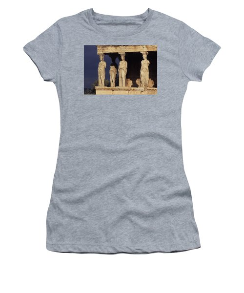 Caryatides At The Acropolis Women's T-Shirt
