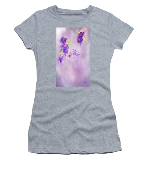 Cascading Orchids Women's T-Shirt (Athletic Fit)