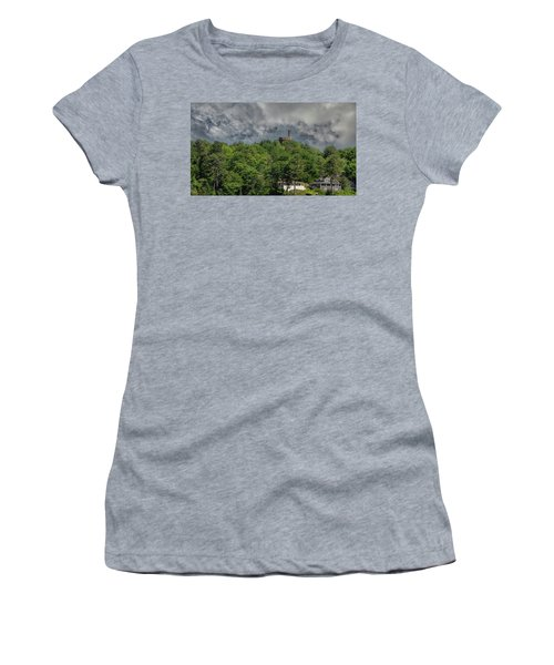 Women's T-Shirt (Athletic Fit) featuring the photograph Casco Castle 5733 by Guy Whiteley