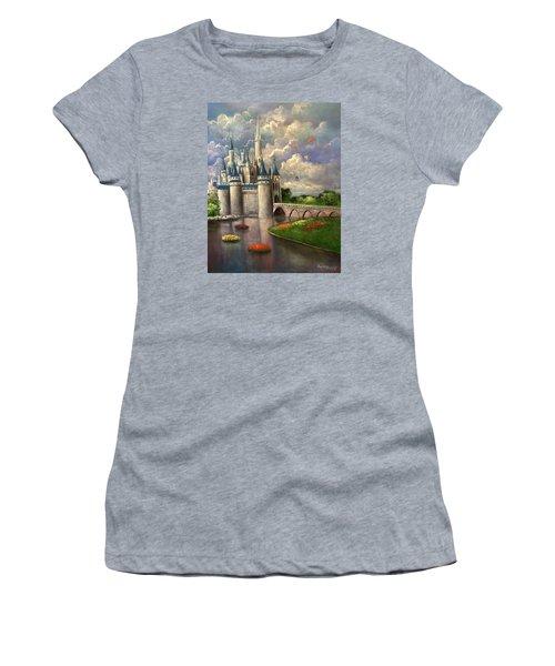 Castle Of Dreams Women's T-Shirt (Junior Cut) by Randy Burns