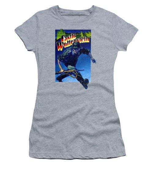 Castle Wolfenstein Shirt Women's T-Shirt (Athletic Fit)