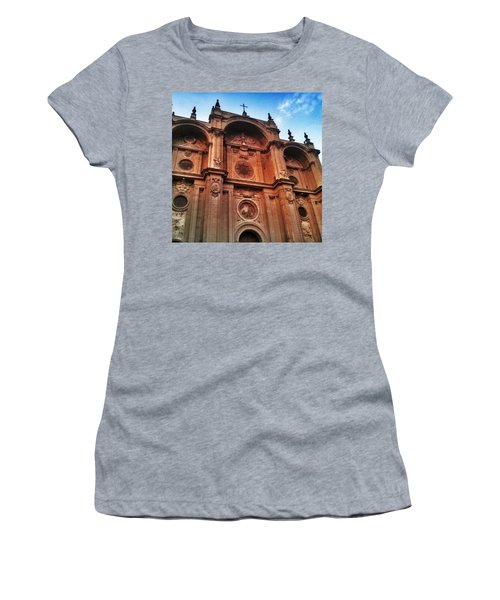 Catedral De #granada View From Plaza Women's T-Shirt (Athletic Fit)