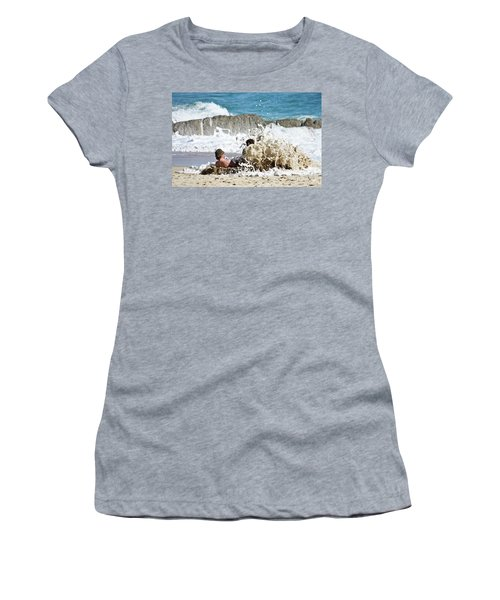 Women's T-Shirt (Junior Cut) featuring the photograph Caught From Behind by Terri Waters