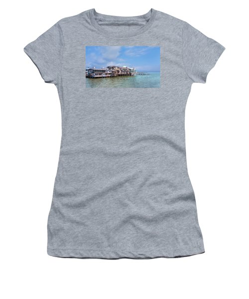 Women's T-Shirt (Athletic Fit) featuring the photograph Cedar Key by John M Bailey