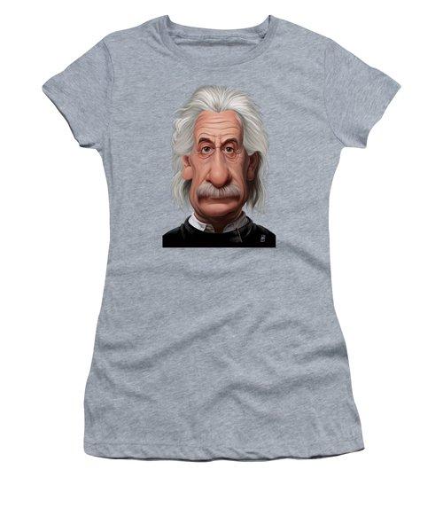 Celebrity Sunday - Albert Einstein Women's T-Shirt (Athletic Fit)
