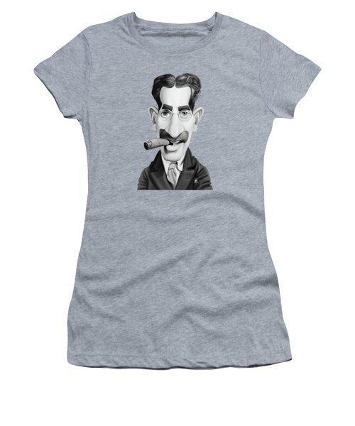 Celebrity Sunday - Groucho Marx Women's T-Shirt (Junior Cut) by Rob Snow