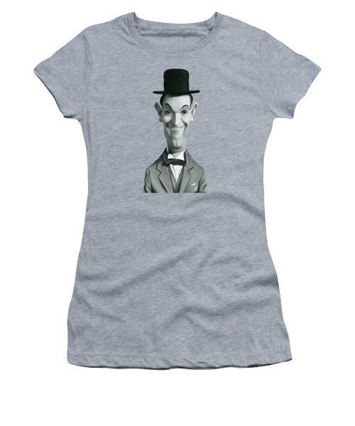 Celebrity Sunday - Stan Laurel Women's T-Shirt (Junior Cut) by Rob Snow