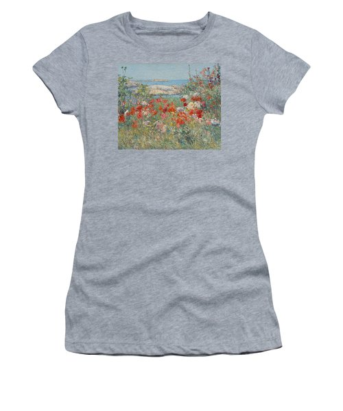 Celia Thaxter's Garden, Isles Of Shoals, Maine Women's T-Shirt (Athletic Fit)