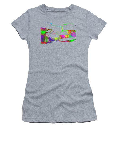 Women's T-Shirt featuring the mixed media Cello by David Millenheft