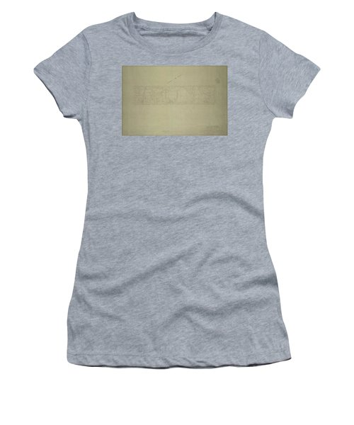 Central Park City Of New York Department Of Parks Map 1934 Women's T-Shirt (Athletic Fit)