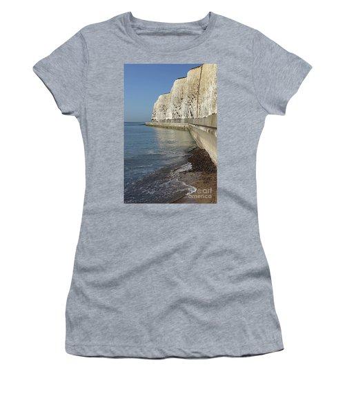 Chalk Cliffs At Peacehaven East Sussex England Uk Women's T-Shirt