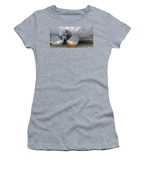 Women's T-Shirt (Junior Cut) featuring the digital art Chaos by Alex Grichenko