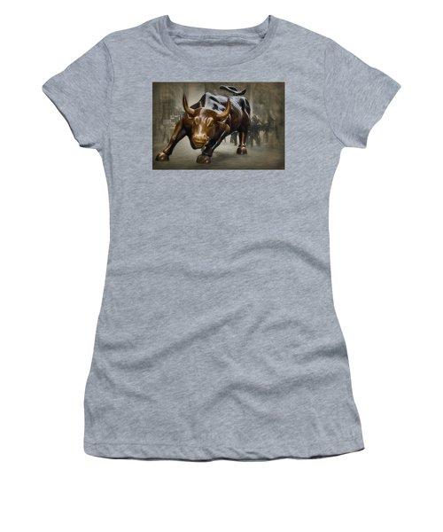 Charging Bull Women's T-Shirt (Junior Cut)