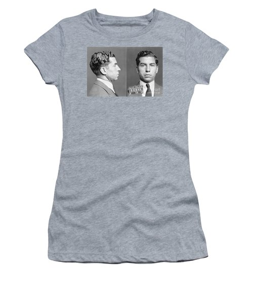 Women's T-Shirt featuring the photograph Charles Lucky Luciano by Granger