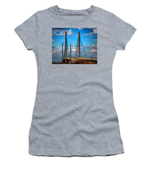 Charles W Cullen Bridge South Approach Women's T-Shirt