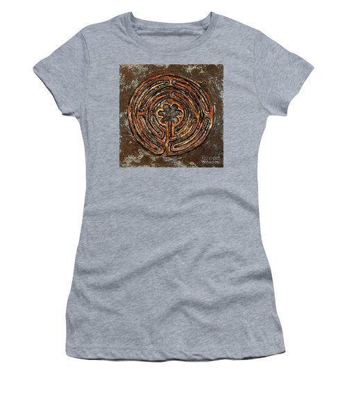 Chartres Style Labyrinth Earth Tones Women's T-Shirt