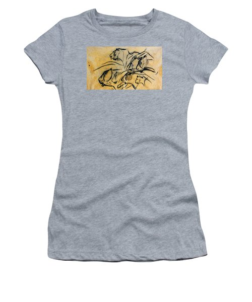 chauvet cave lions Clear Women's T-Shirt