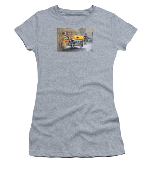 Checker Taxi Women's T-Shirt (Athletic Fit)