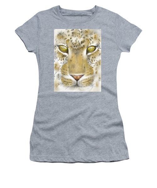 Cheetah Face Women's T-Shirt (Athletic Fit)