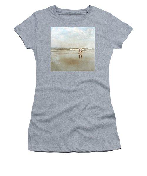Cherry Grove Beach Walk Women's T-Shirt (Athletic Fit)
