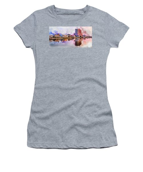 Cherry Grove Skyline - Digital Watercolor Women's T-Shirt