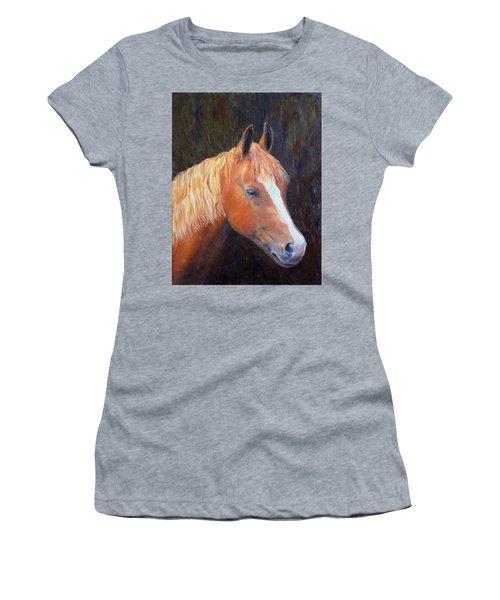 Women's T-Shirt (Junior Cut) featuring the painting Chestnut by Elizabeth Lock