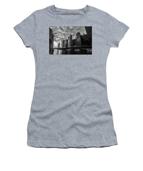 Chi Sunrise Black And White Women's T-Shirt