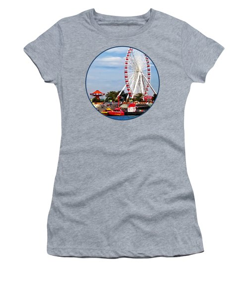 Chicago Il - Ferris Wheel At Navy Pier Women's T-Shirt