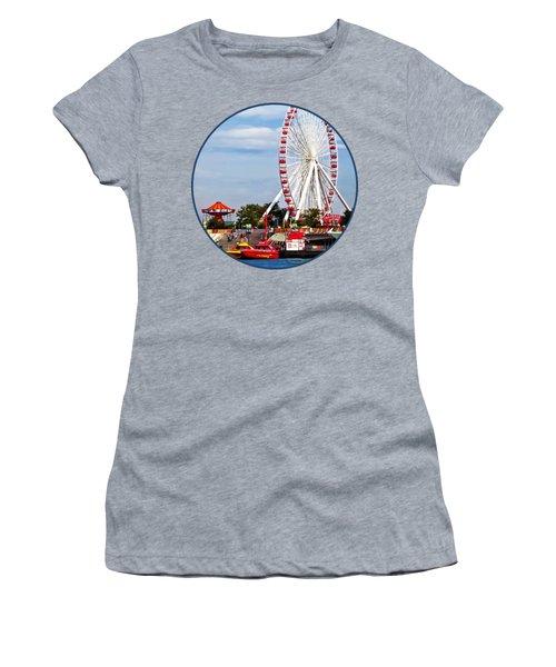 Chicago Il - Ferris Wheel At Navy Pier Women's T-Shirt