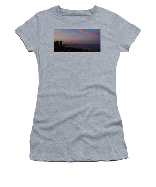 Chicago Lakefront At Sunset Women's T-Shirt