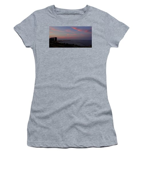 Chicago Lakefront At Sunset Women's T-Shirt (Athletic Fit)