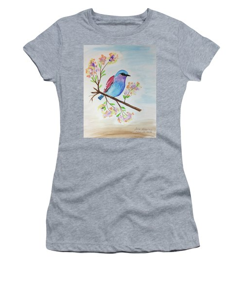 Chickadee On A Branch Women's T-Shirt (Athletic Fit)