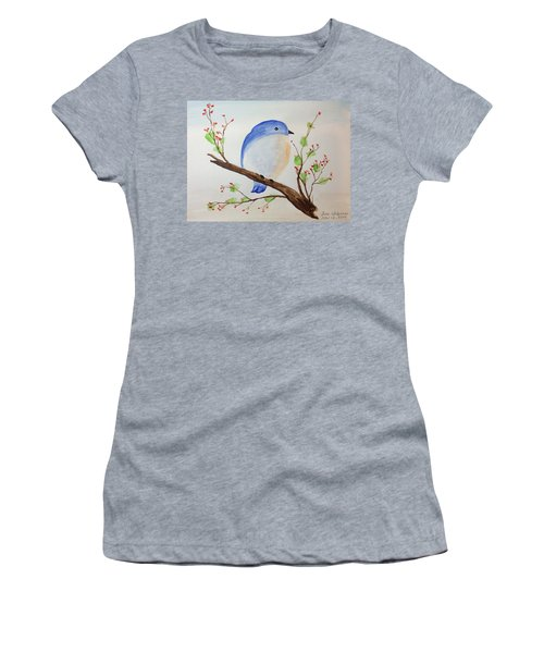 Chickadee On A Branch With Leaves Women's T-Shirt