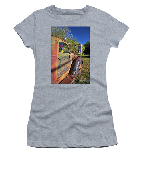 Women's T-Shirt (Athletic Fit) featuring the photograph Chicken Driver by Edward Fielding