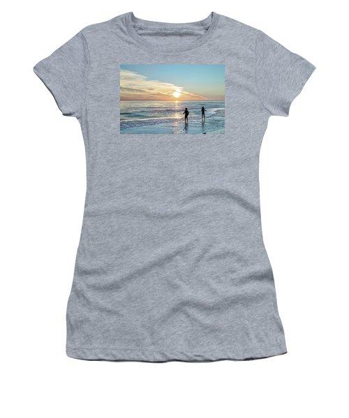 Children At Play On A Florida Beach  Women's T-Shirt