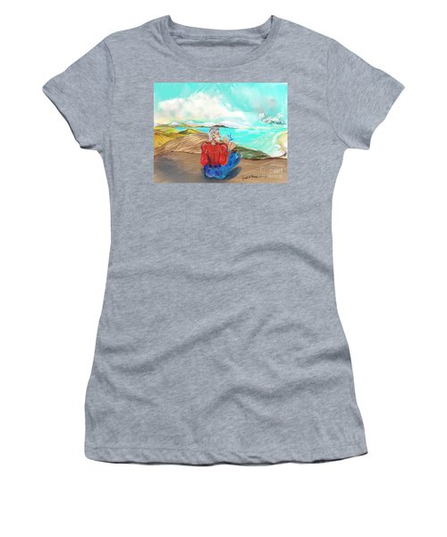 Chillin' Caricature Joe Women's T-Shirt (Athletic Fit)