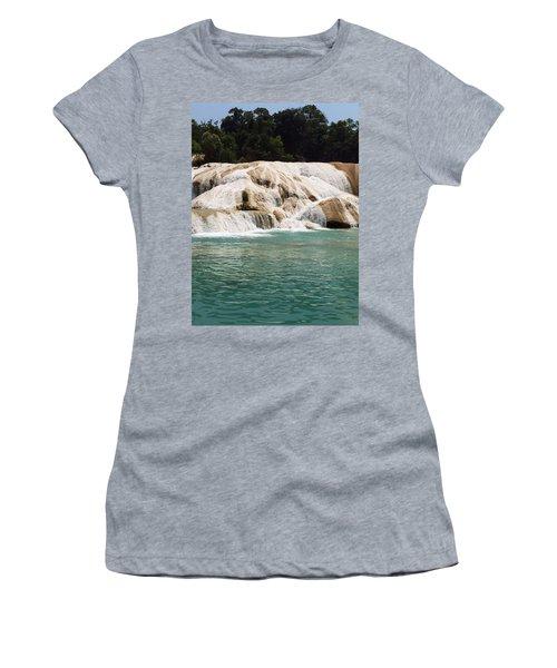 Chilon Waterfall. Women's T-Shirt (Junior Cut) by Shlomo Zangilevitch