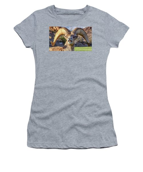 Chin Down Women's T-Shirt (Athletic Fit)