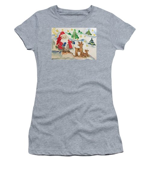 Christmas Is Coming  Women's T-Shirt (Athletic Fit)