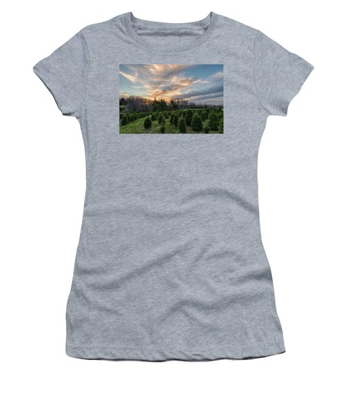 Christmas Tree Farm Sunset Women's T-Shirt