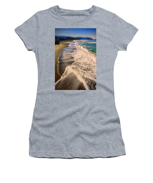 Chromatic Aberration At The Beach Women's T-Shirt (Athletic Fit)