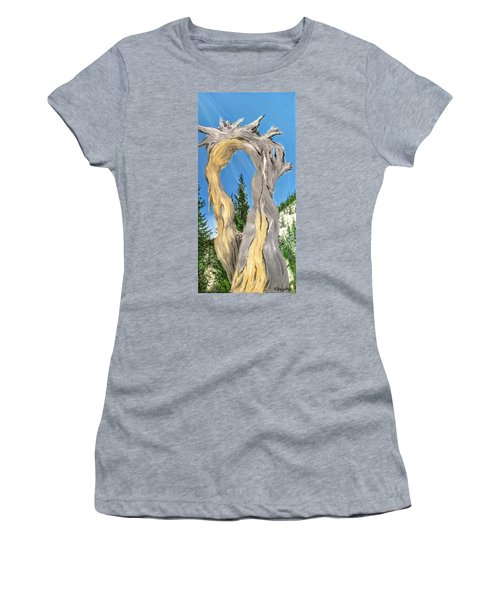 Women's T-Shirt featuring the painting Church Window by Kevin Daly
