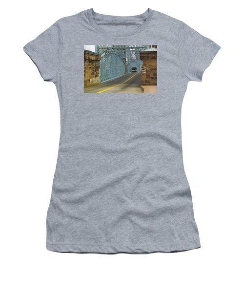 Cincinnati - Roebling Bridge 1 Women's T-Shirt (Junior Cut) by Frank Romeo